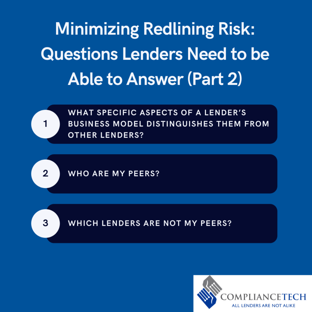 Bullets of the three main questions that lenders need to be able to answer